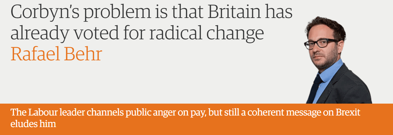Corbyn's problem is that Britain has already voted for radical change