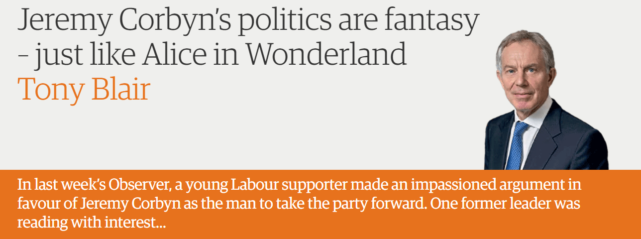 Jeremy Corbyn's politics are fantasy – just like Alice in Wonderland