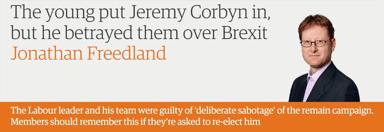 The young put Jeremy Corbyn in, but he betrayed them over Brexit
