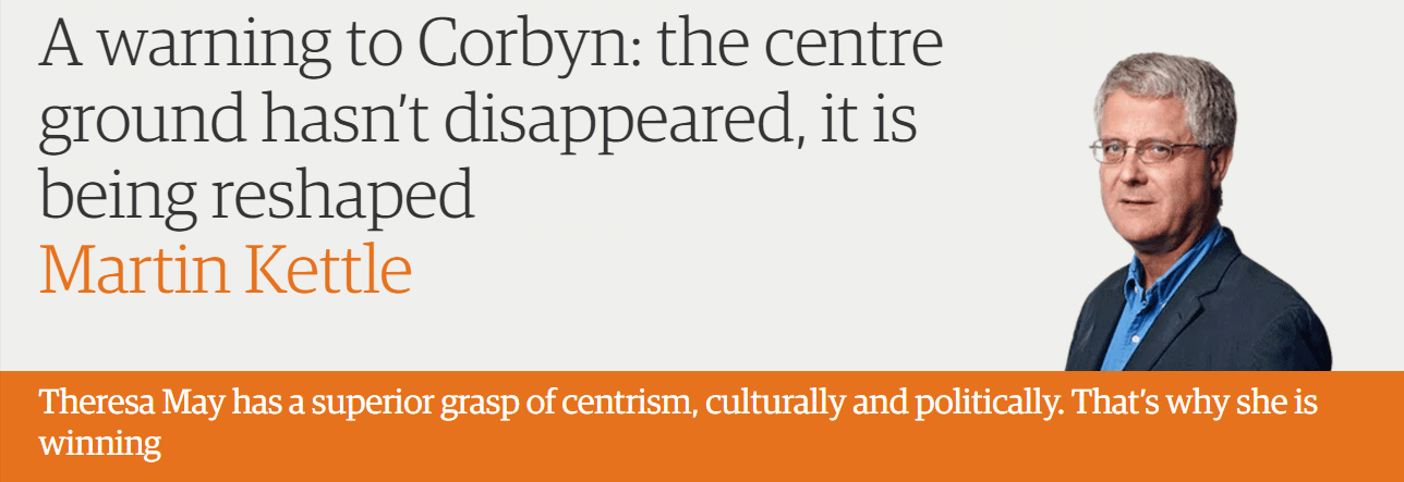 A warning to Corbyn: the centre ground hasn't disappeared, it is being reshaped