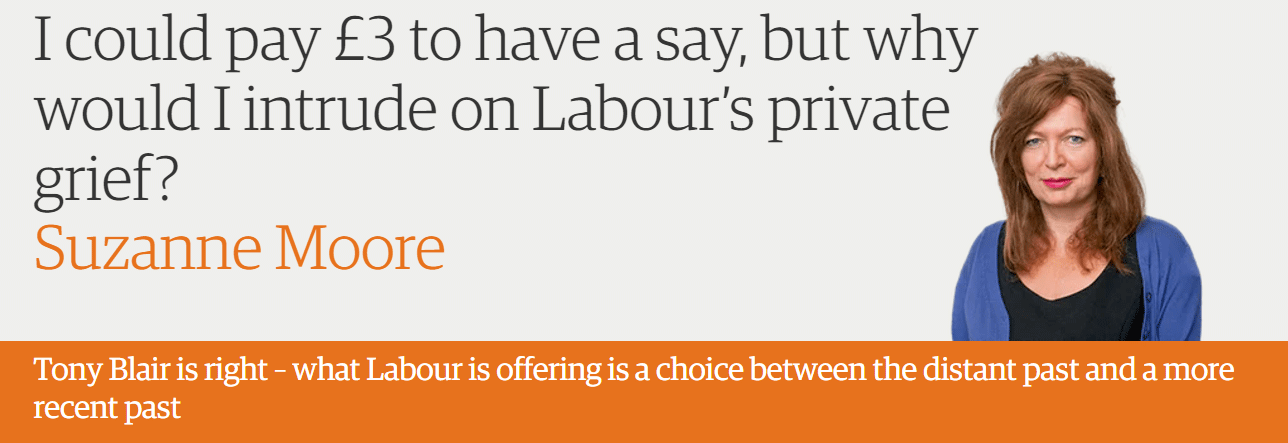 I could pay £3 to have a say, but why would I intrude on Labour's private grief?