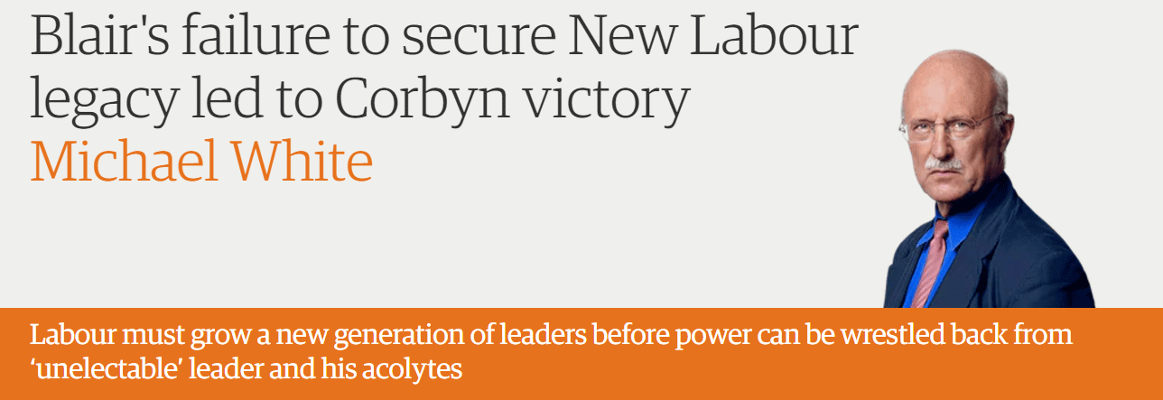 Blair's failure to secure New Labour legacy led to Corbyn victory